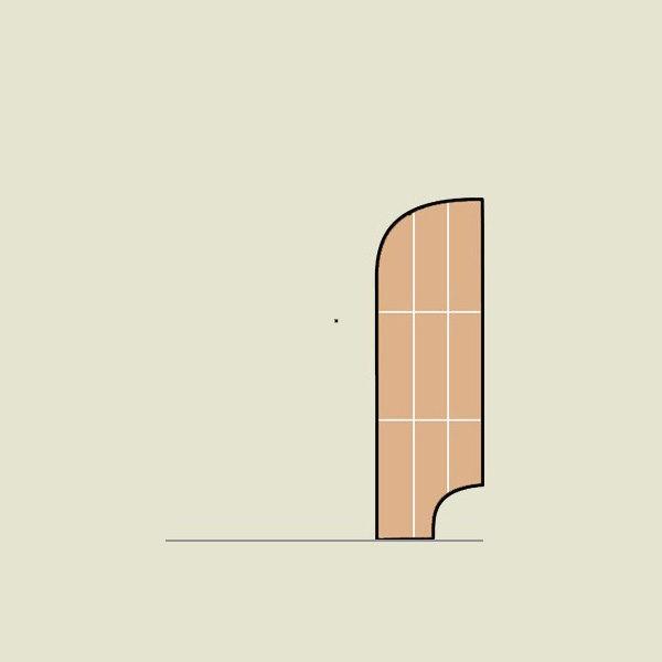 bambus sockelleiste 50/15 karamell horizontal