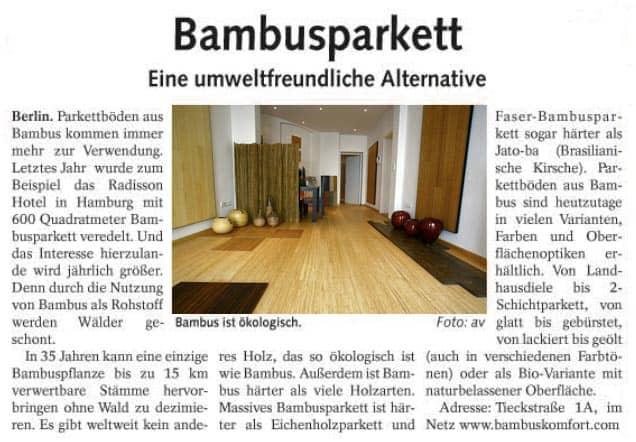 bambusparkett berliner abendblatt