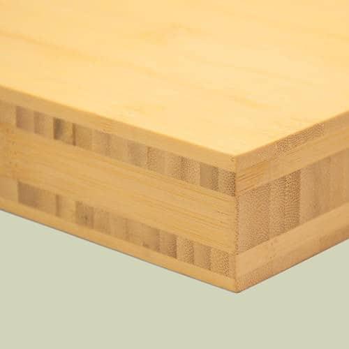bambusplatte 40mm natur horizontal