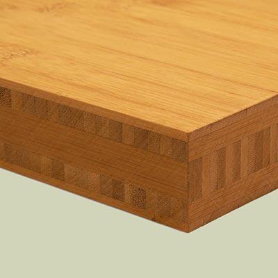 Bambusplatte 40mm Karamell horizontal