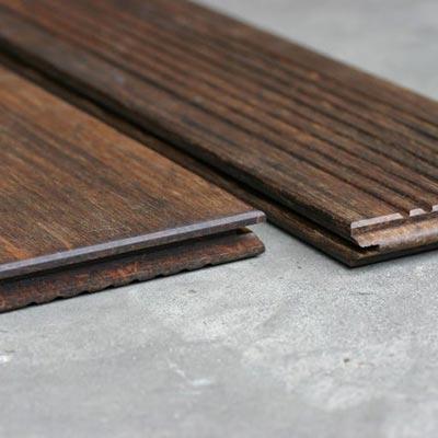 Bamboo X-treme Terrassendiele geriffelt glatt